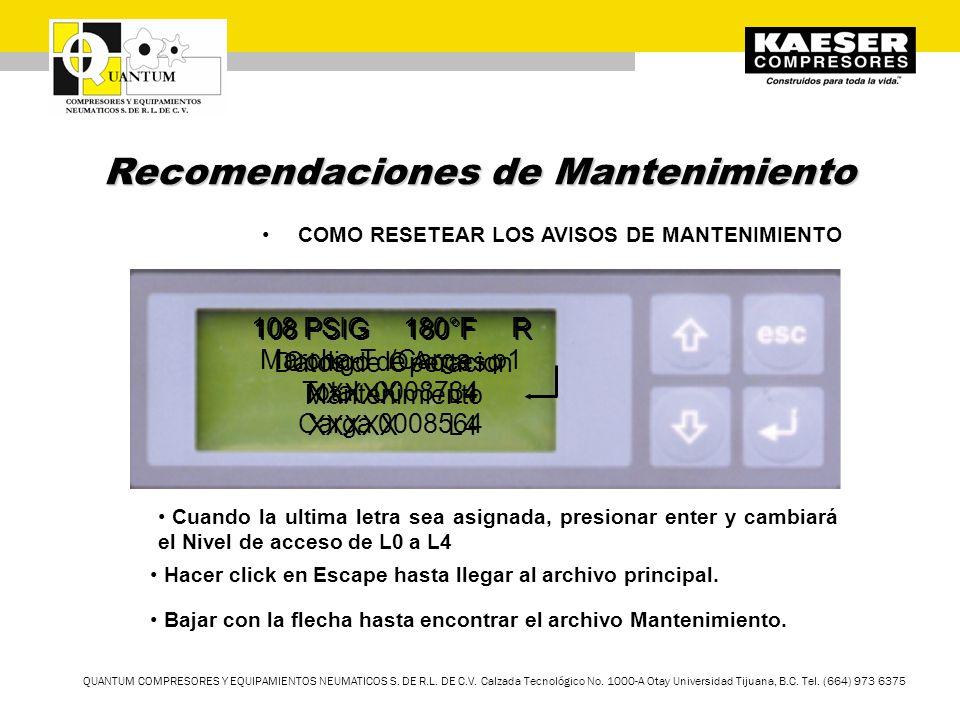 TM QUANTUM COMPRESORES Y EQUIPAMIENTOS NEUMATICOS S. DE R.L. DE C.V. Calzada Tecnológico No. 1000-A Otay Universidad Tijuana, B.C. Tel. (664) 973 6375