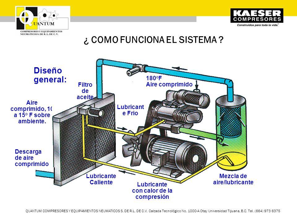 QUANTUM COMPRESORES Y EQUIPAMIENTOS NEUMATICOS S. DE R.L. DE C.V. Calzada Tecnológico No. 1000-A Otay Universidad Tijuana, B.C. Tel. (664) 973 6375 ¿