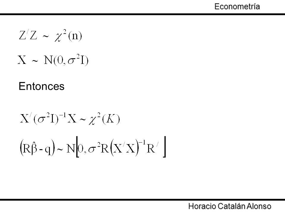 Taller de Econometría Horacio Catalán Alonso Econometría Entonces