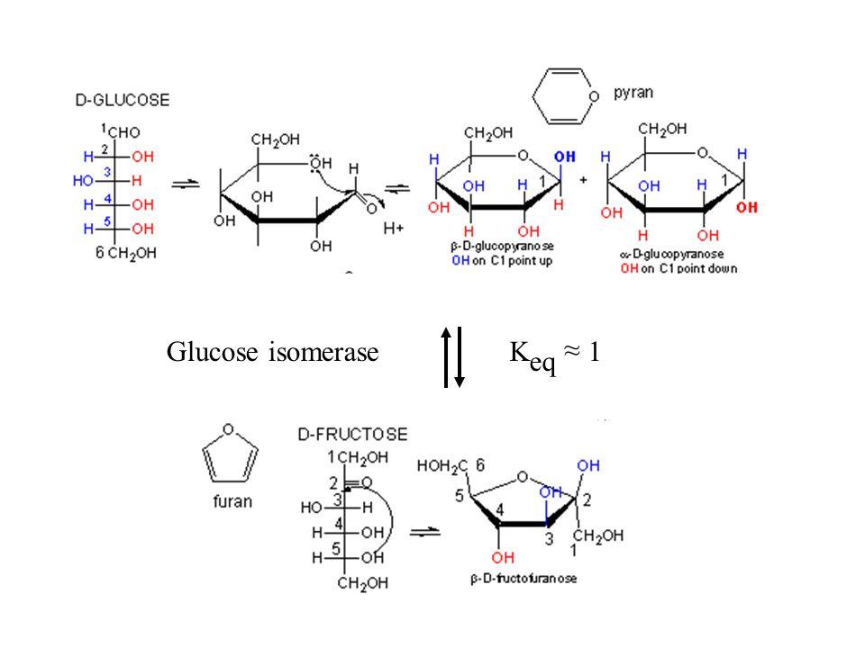 Glucose isomeraseK eq ~ 1 ~