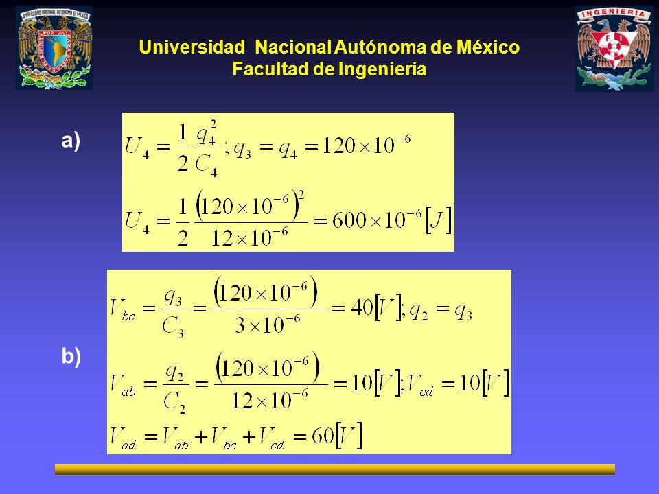 Universidad Nacional Autónoma de México Facultad de Ingeniería a) b)