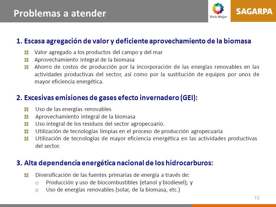 12 Uso de las energías renovables Aprovechamiento integral de la biomasa Uso integral de los residuos del sector agropecuario. Utilización de tecnolog