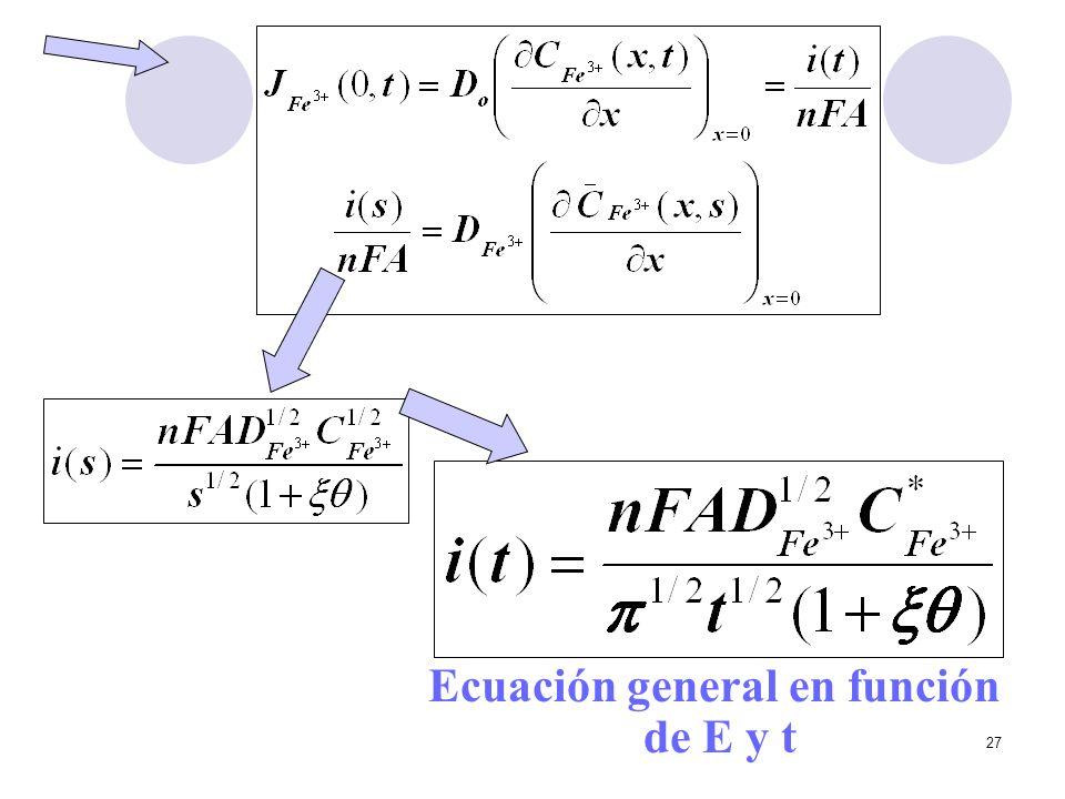 27 Ecuación general en función de E y t