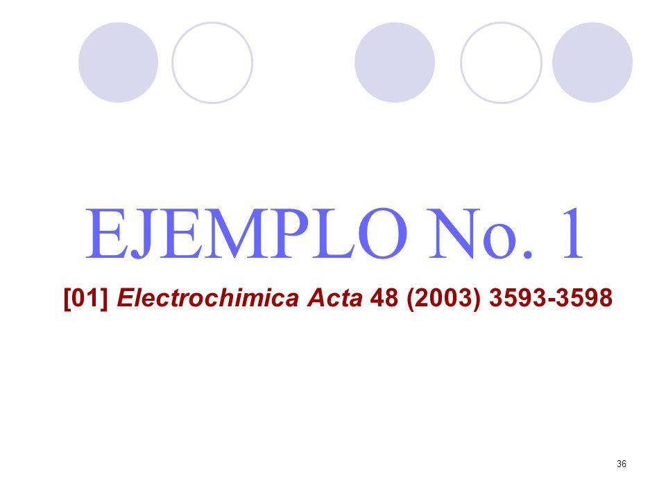 36 EJEMPLO No. 1 [01] Electrochimica Acta 48 (2003) 3593-3598