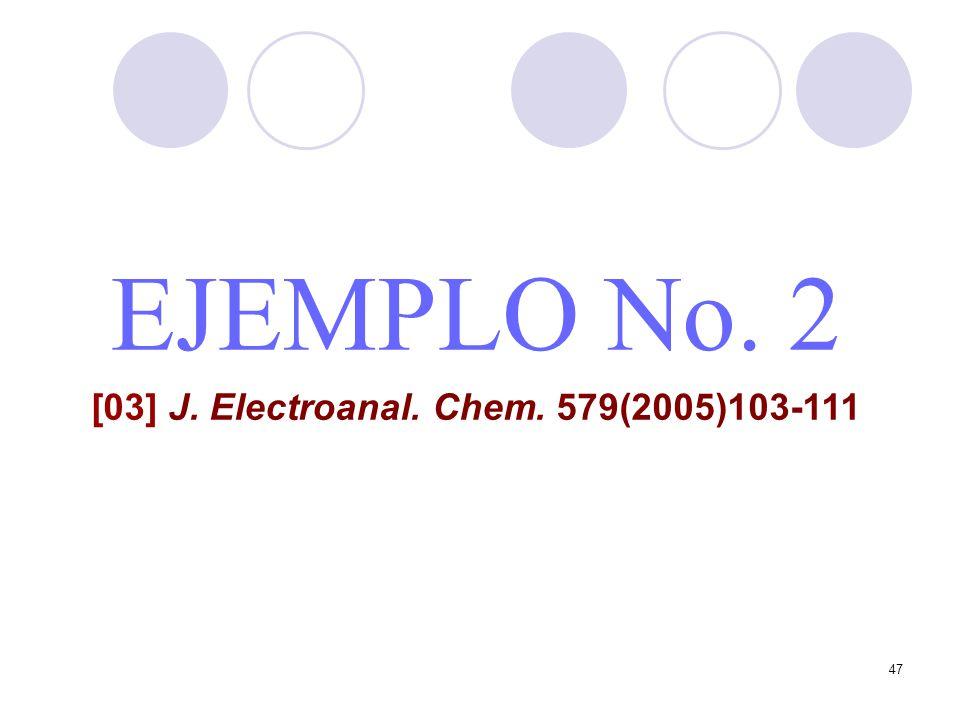 47 EJEMPLO No. 2 [03] J. Electroanal. Chem. 579(2005)103-111
