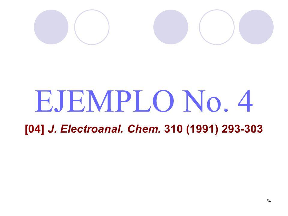 64 EJEMPLO No. 4 [04] J. Electroanal. Chem. 310 (1991) 293-303