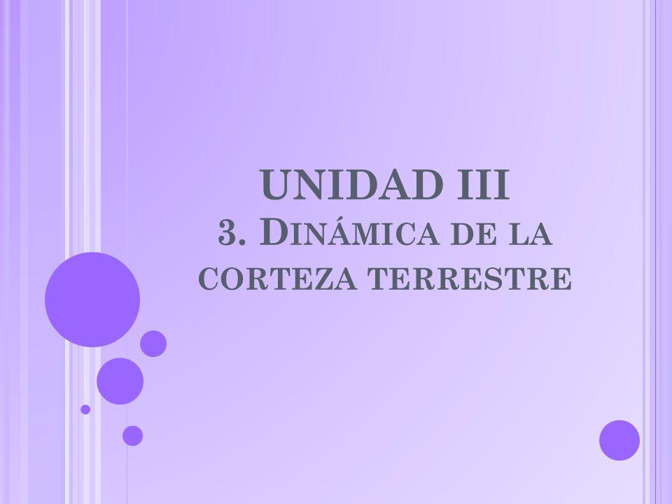 UNIDAD III 3. D INÁMICA DE LA CORTEZA TERRESTRE