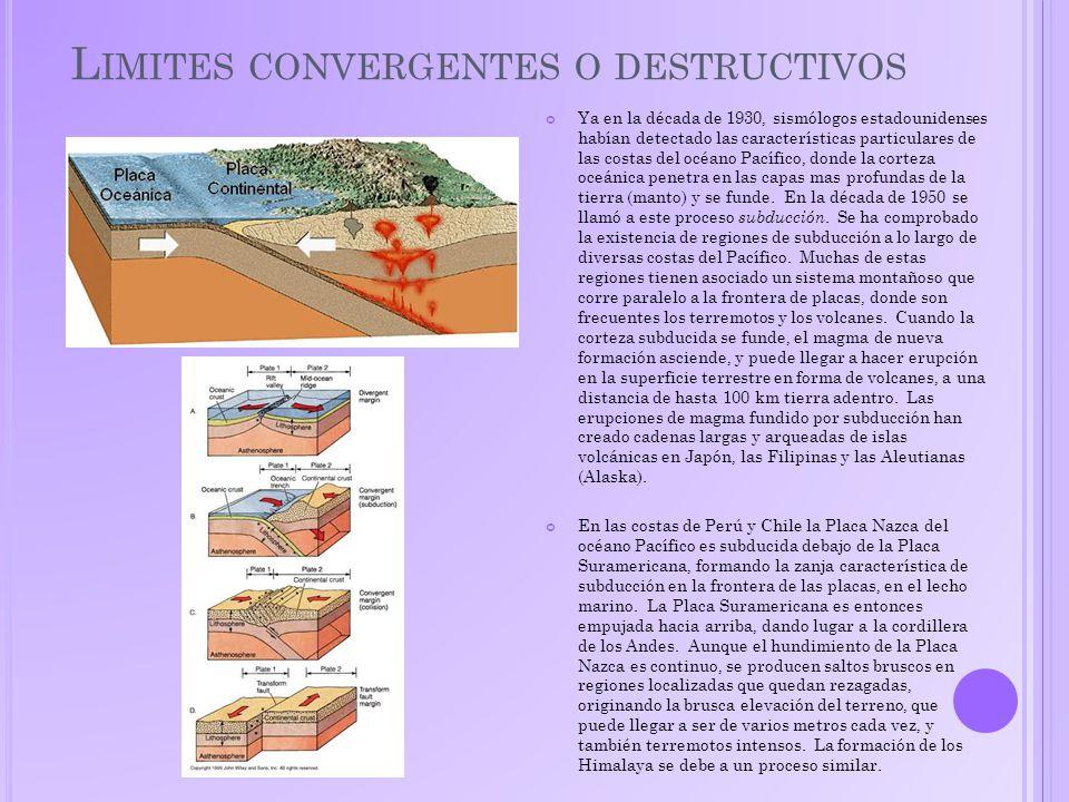 L IMITES TRANSFORMANTES El ejemplo clásico de una frontera del tipo de transformación es la denominada Falla de San Andrés, en California.