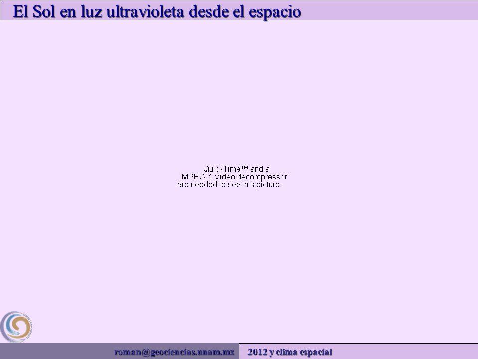 roman@geociencias.unam.mx 2012 y clima espacial El Sol en luz ultravioleta desde el espacio