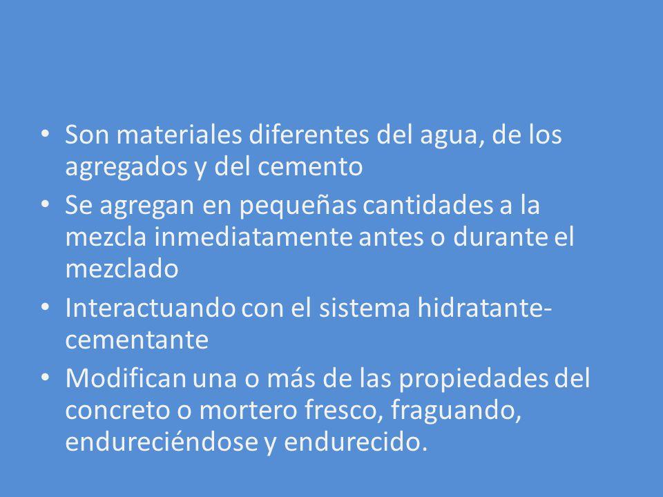 TIPO E REDUCTOR DE AGUA Y ACELERANTE Resulta de la combinación de compuestos acelerantes y reductores de agua.