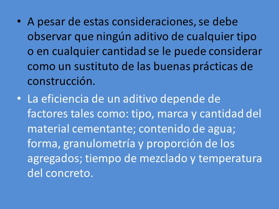 TIPO F REDUCTOR DE AGUA DE ALTO RANGO Se recomienda para concreto pretensado o postensado.