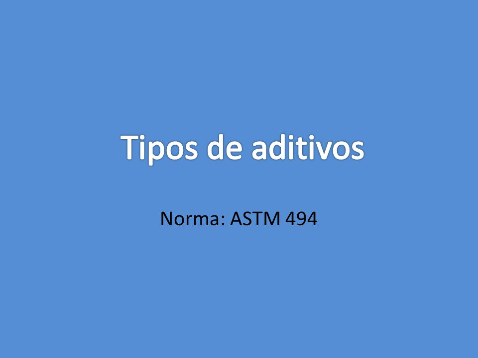 Norma: ASTM 494