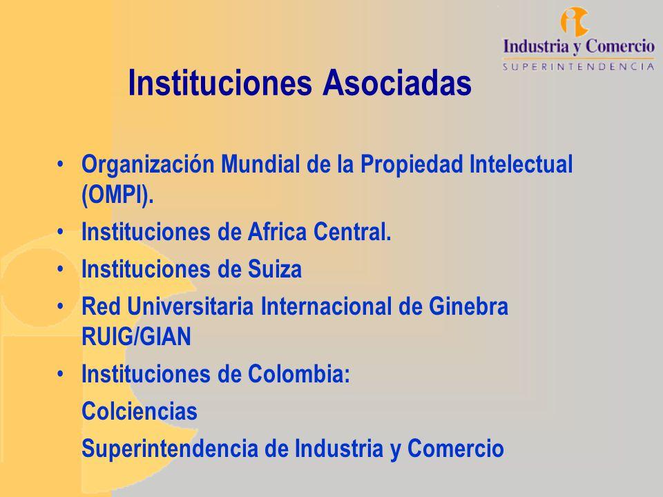 Instituciones Asociadas Organización Mundial de la Propiedad Intelectual (OMPI). Instituciones de Africa Central. Instituciones de Suiza Red Universit