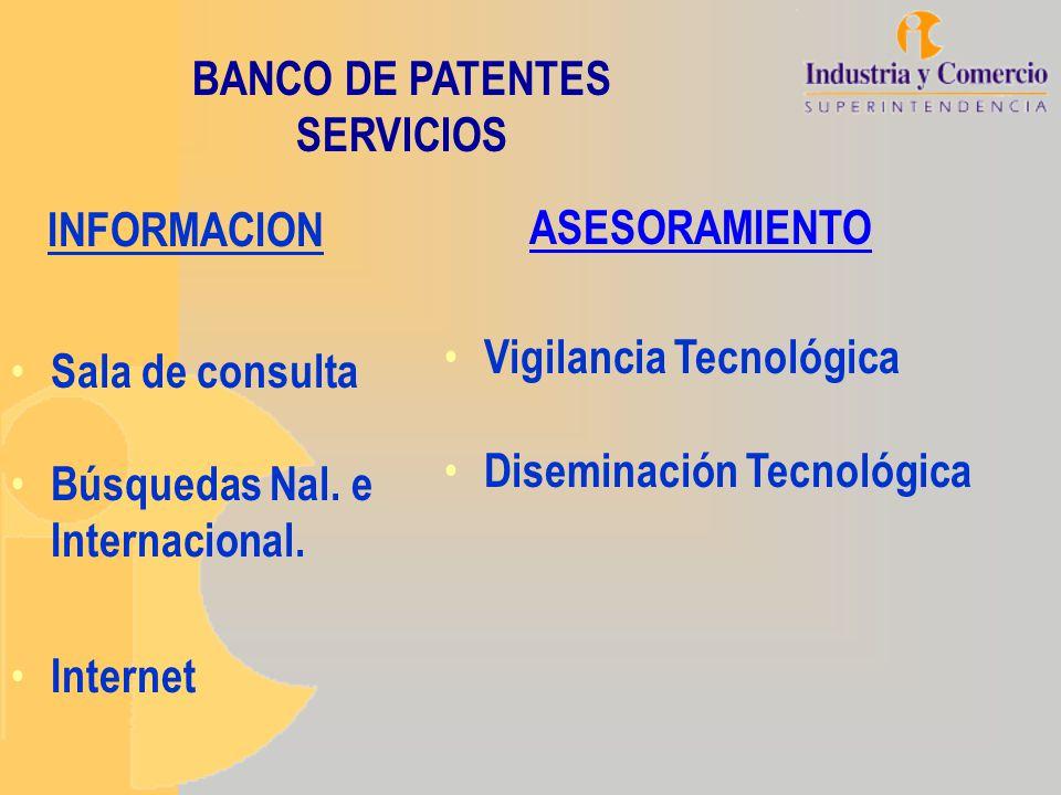 SERVICIO DE ASESORAMIENTO Vigilancia Tecnológica: Con base en el estado de la técnica encontrado se realiza un informe y análisis sobre la evolución tecnológica de un sector específico.