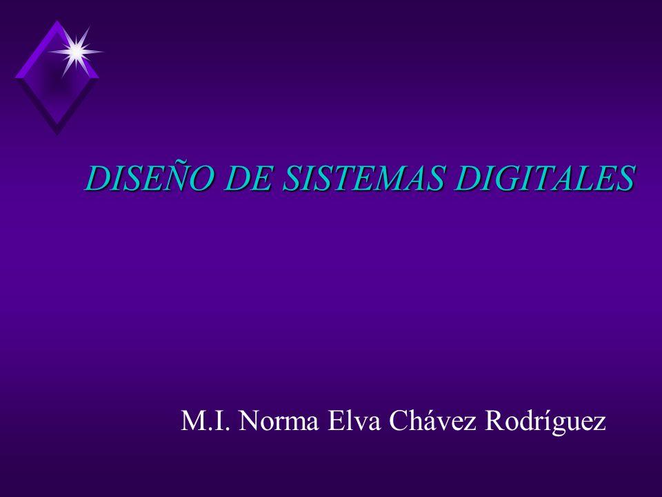 DISEÑO DE SISTEMAS DIGITALES M.I. Norma Elva Chávez Rodríguez