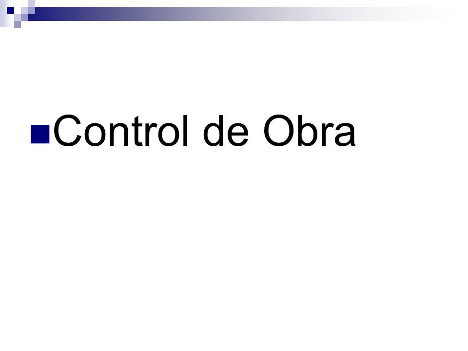 Control de Obra