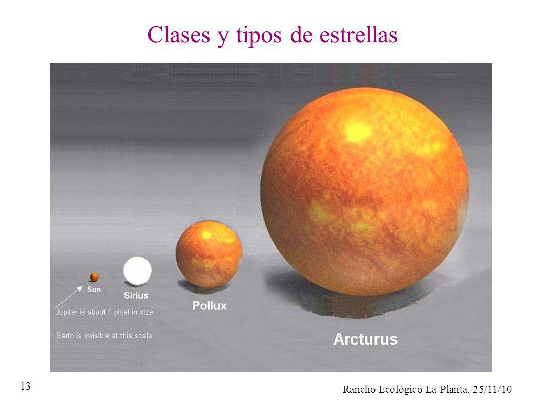 Rancho Ecológico La Planta, 25/11/10 13 Clases y tipos de estrellas