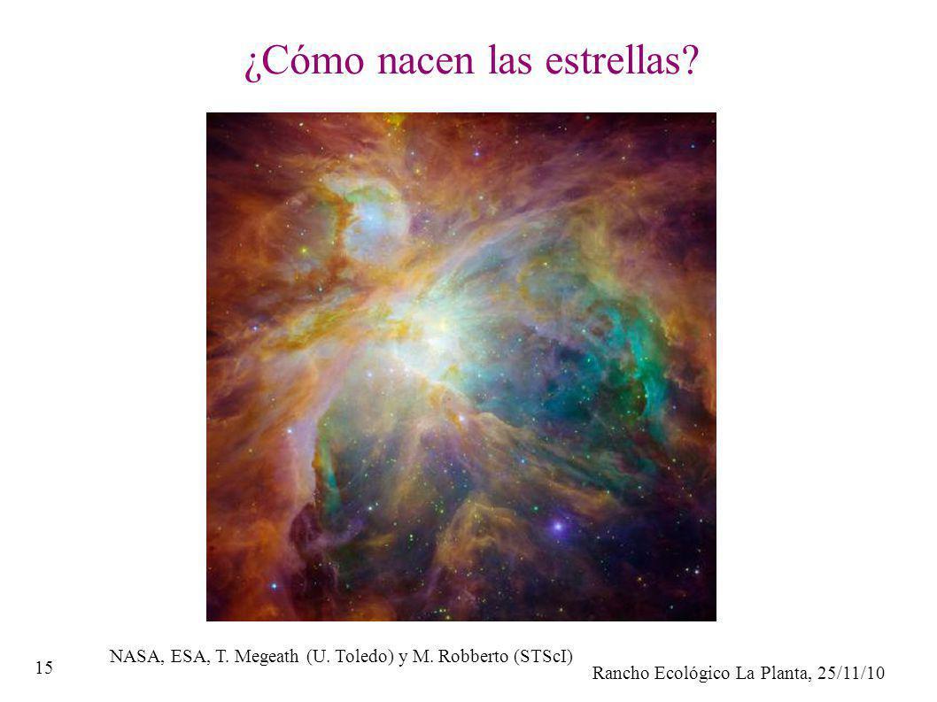 Rancho Ecológico La Planta, 25/11/10 15 ¿Cómo nacen las estrellas? NASA, ESA, T. Megeath (U. Toledo) y M. Robberto (STScI)