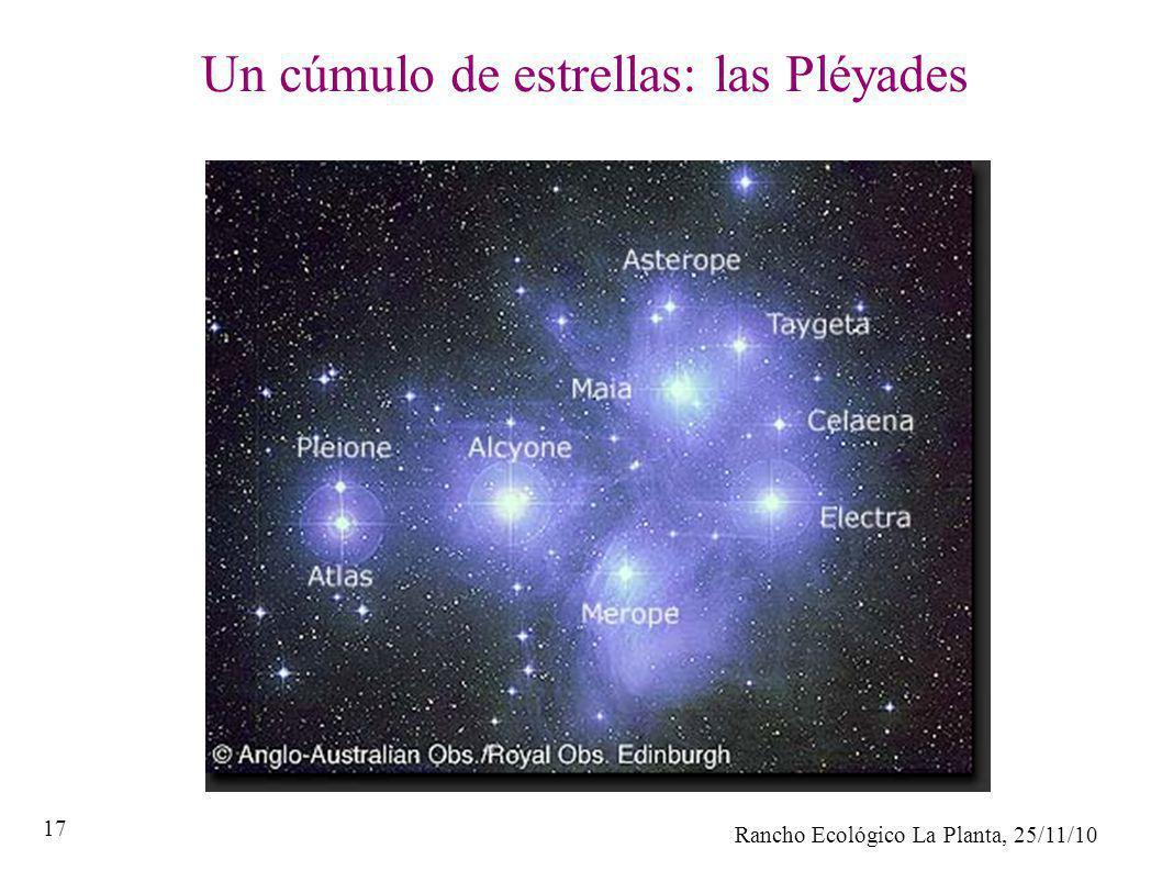 Rancho Ecológico La Planta, 25/11/10 17 Un cúmulo de estrellas: las Pléyades