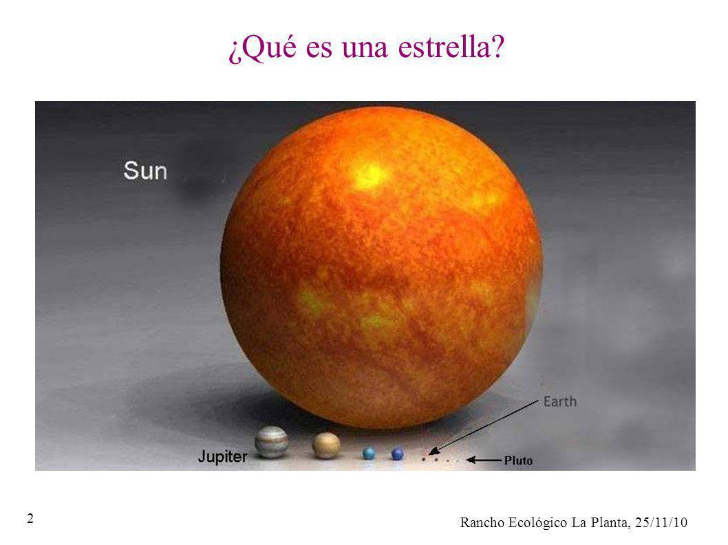 Rancho Ecológico La Planta, 25/11/10 2 ¿Qué es una estrella?