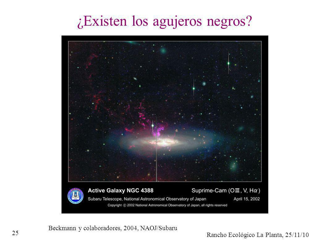 Rancho Ecológico La Planta, 25/11/10 25 ¿Existen los agujeros negros? Beckmann y colaboradores, 2004, NAOJ/Subaru
