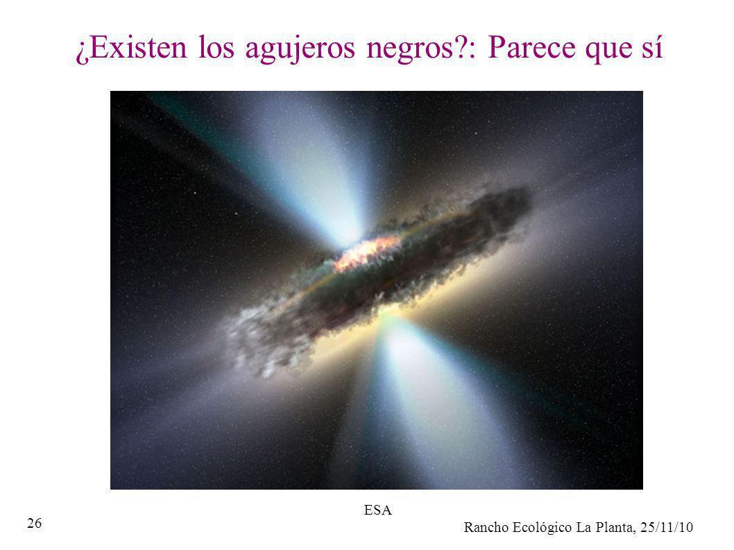 Rancho Ecológico La Planta, 25/11/10 26 ¿Existen los agujeros negros?: Parece que sí ESA