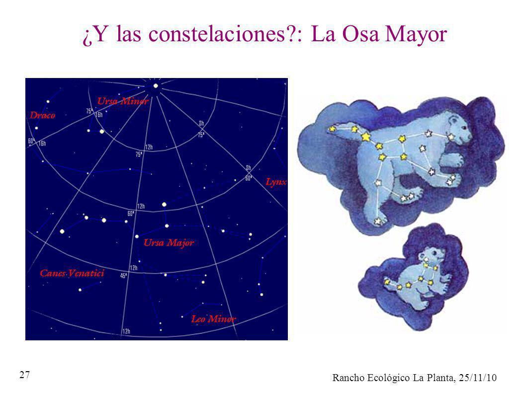 Rancho Ecológico La Planta, 25/11/10 27 ¿Y las constelaciones?: La Osa Mayor