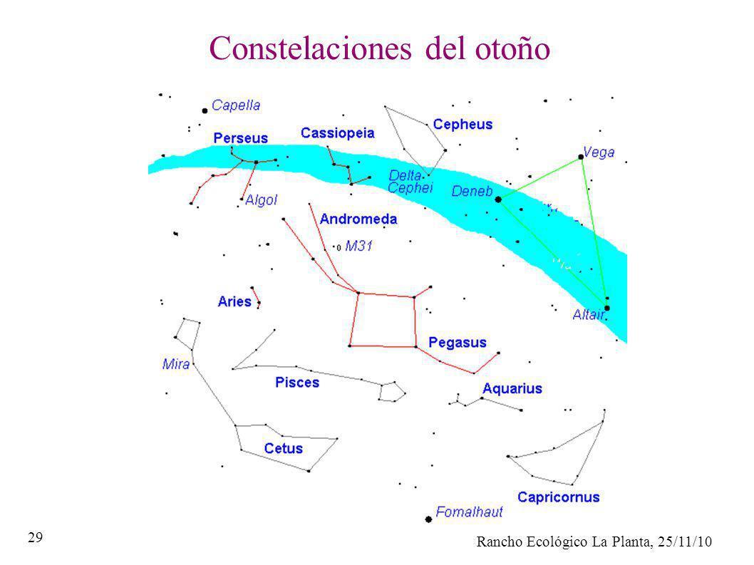 Rancho Ecológico La Planta, 25/11/10 29 Constelaciones del otoño