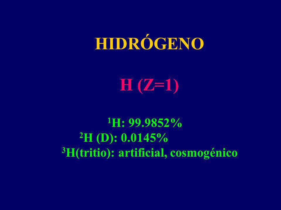 Existe una diferencia grande entre H/D (debido a la gran diferencia de masa).