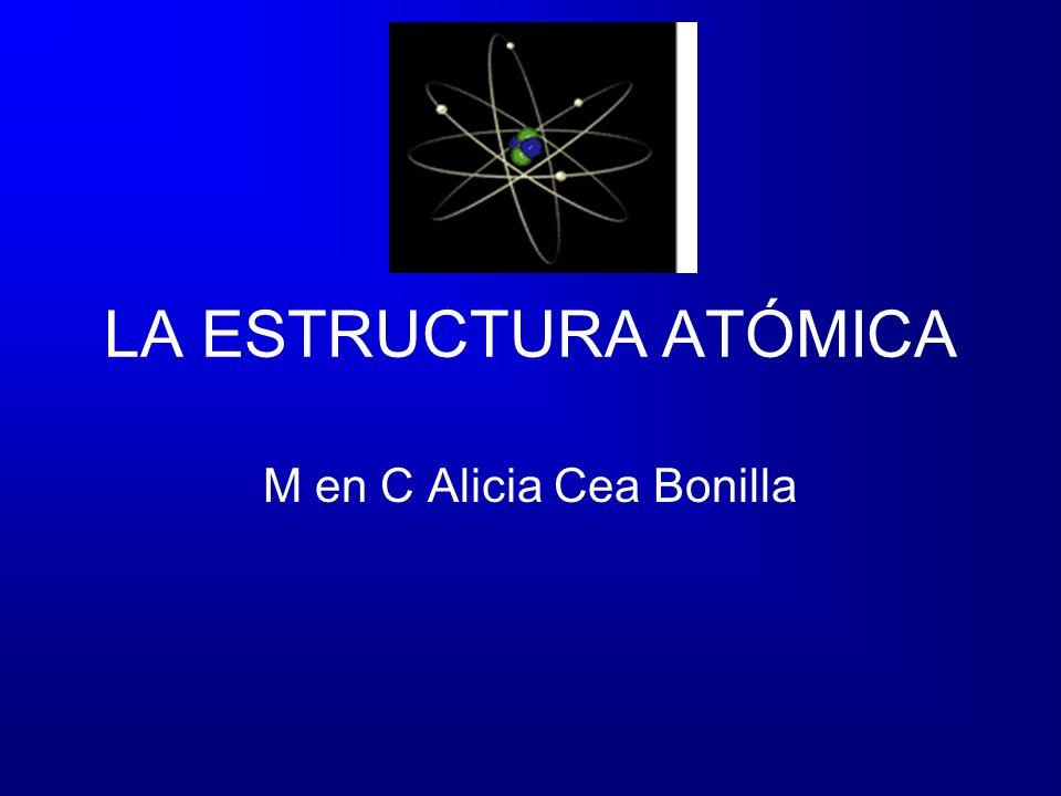 LA ESTRUCTURA ATÓMICA M en C Alicia Cea Bonilla