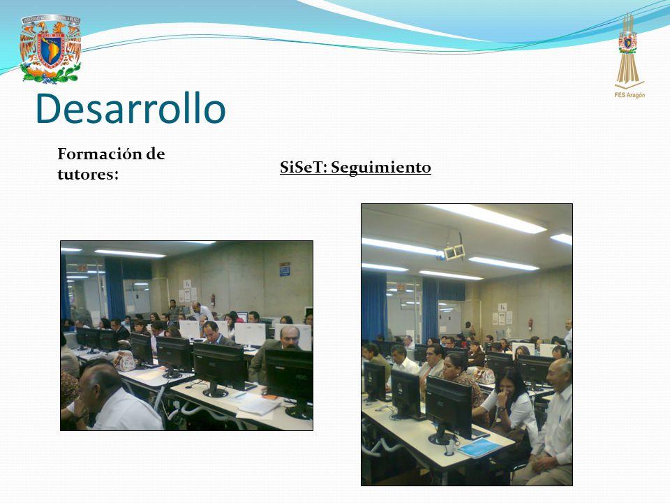 Desarrollo SiSeT: Seguimiento Formación de tutores: