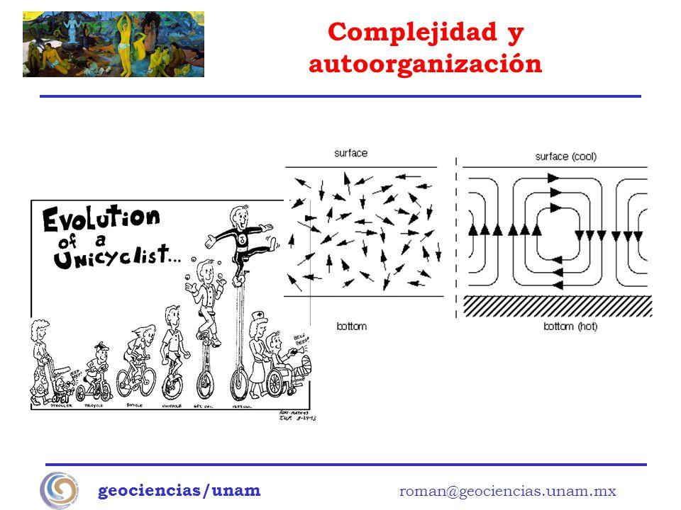 Complejidad y autoorganización geociencias/unam roman@geociencias.unam.mx