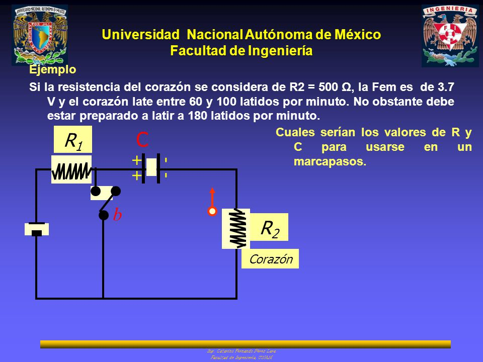 Universidad Nacional Autónoma de México Facultad de Ingeniería Ing. Catarino Fernando Pérez Lara Facultad de Ingeniería, UNAM C ++ -- b Corazón R1R1 R
