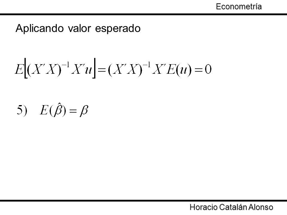 Horacio Catalán Alonso Econometría MCO calcula estimadores eficientes