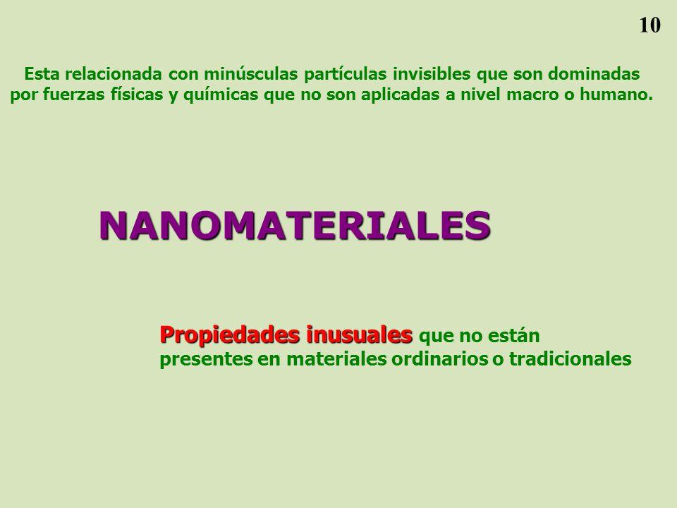 Esta relacionada con minúsculas partículas invisibles que son dominadas por fuerzas físicas y químicas que no son aplicadas a nivel macro o humano.