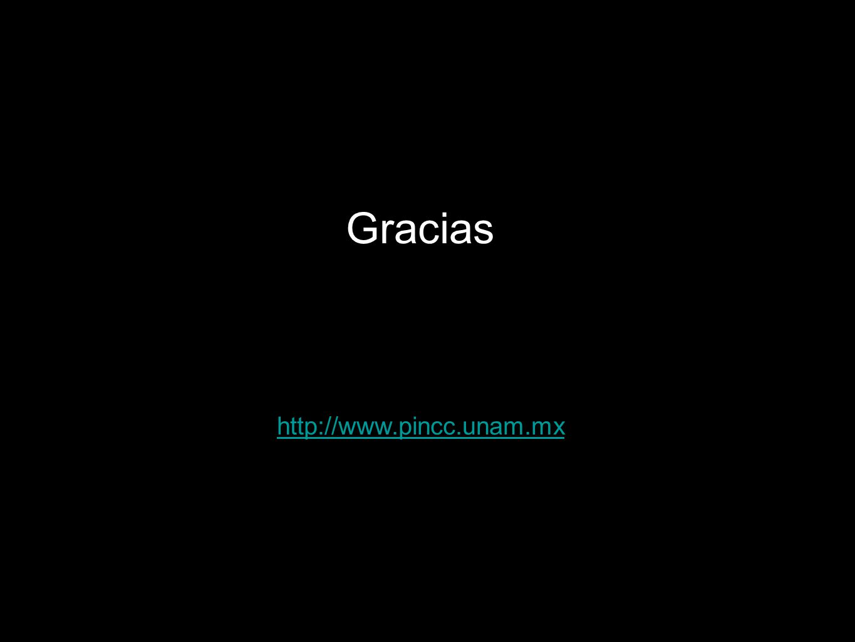 Gracias http://www.pincc.unam.mx