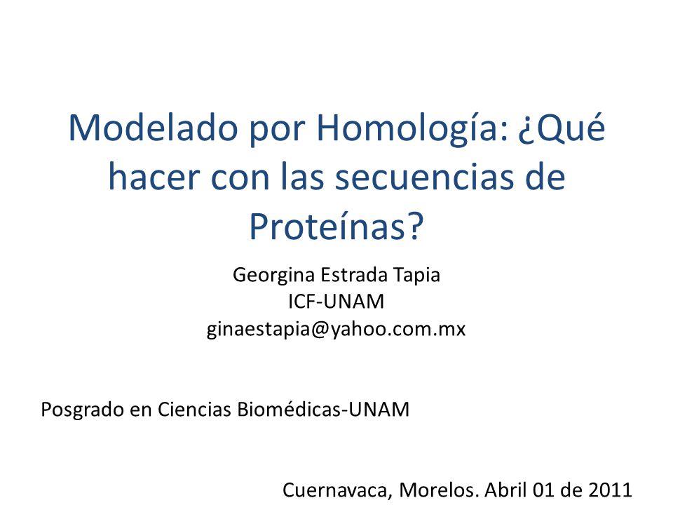 Modelado por Homología: ¿Qué hacer con las secuencias de Proteínas.
