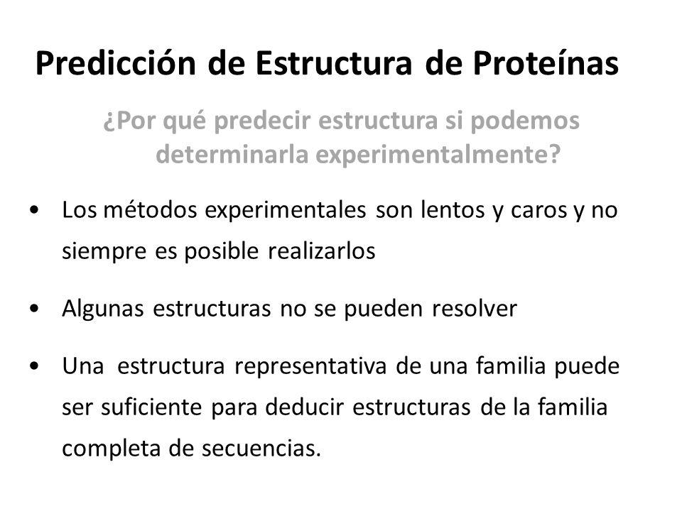 Predicción de Estructura de Proteínas ¿Por qué predecir estructura si podemos determinarla experimentalmente.