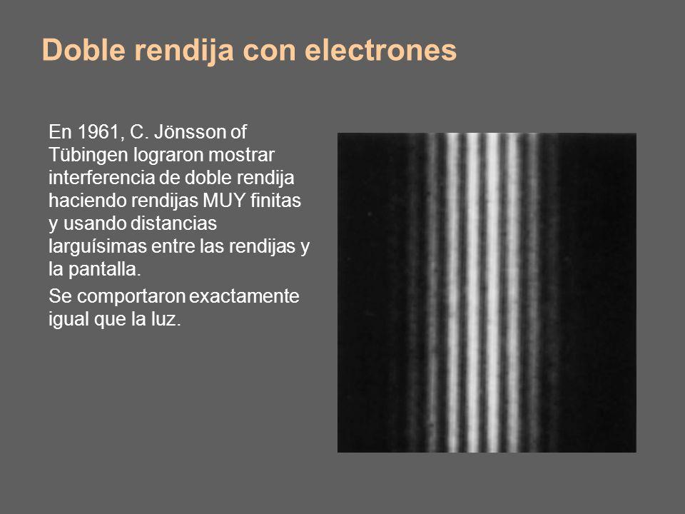 Doble rendija con electrones En 1961, C.