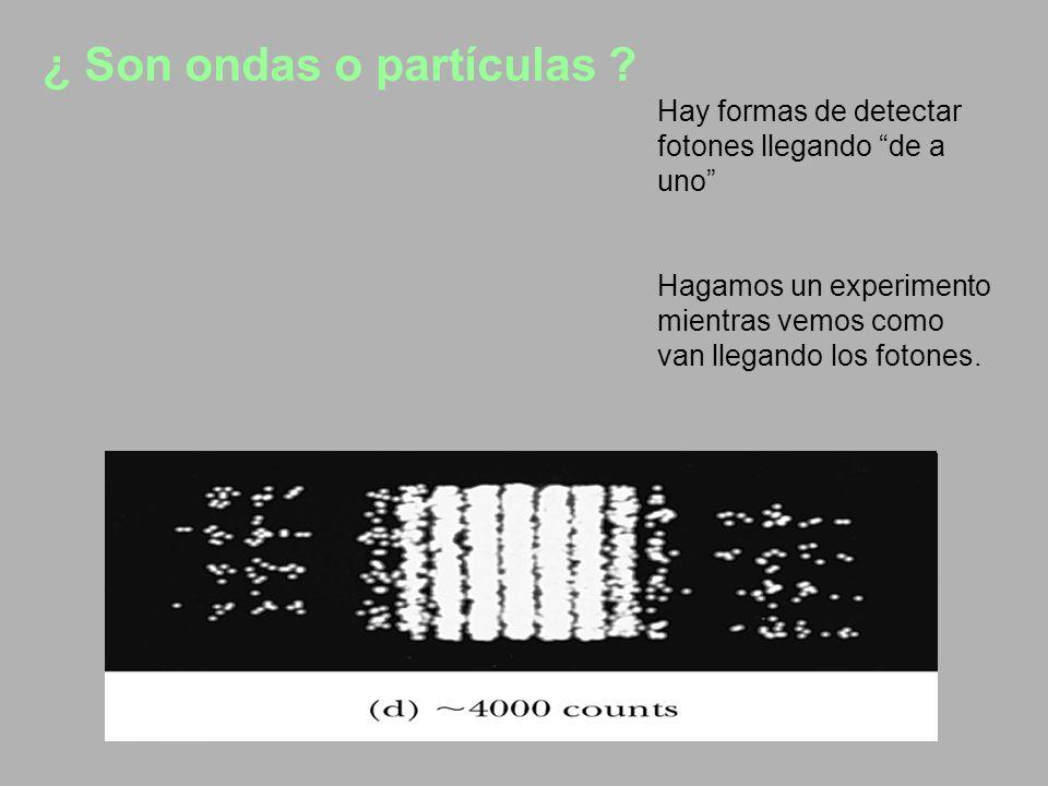 ¿ Son ondas o partículas .