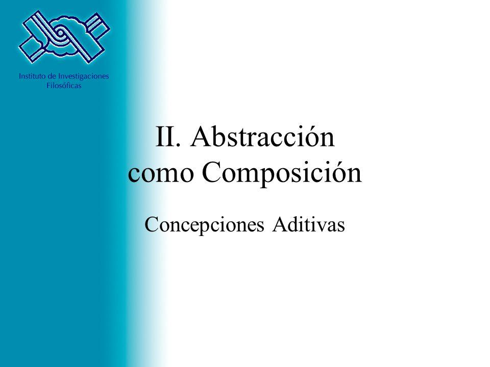 II. Abstracción como Composición Concepciones Aditivas
