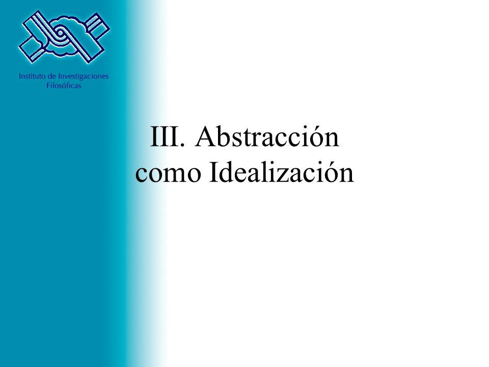 III. Abstracción como Idealización