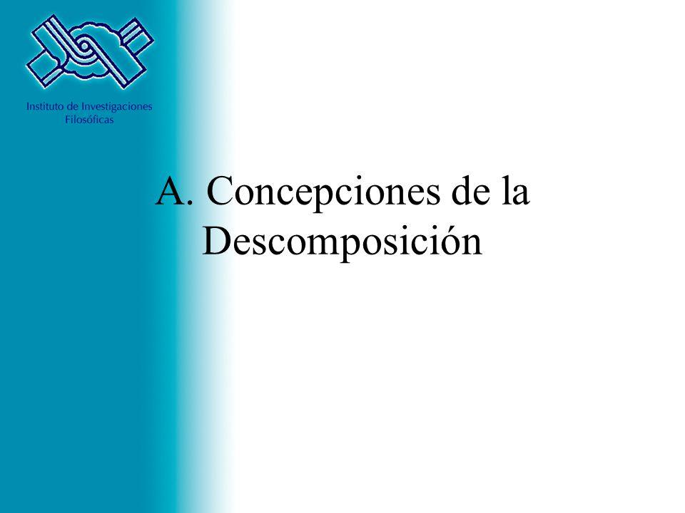 A. Concepciones de la Descomposición