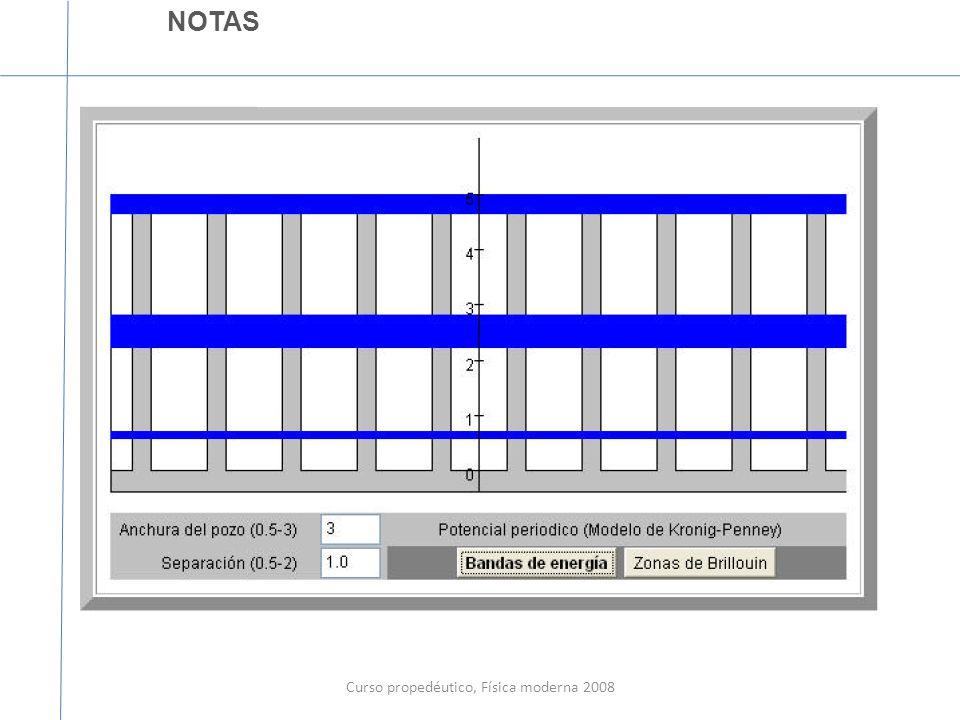 Curso propedéutico, Física moderna 2008 NOTAS La tareas se subirá hoy en la tarde