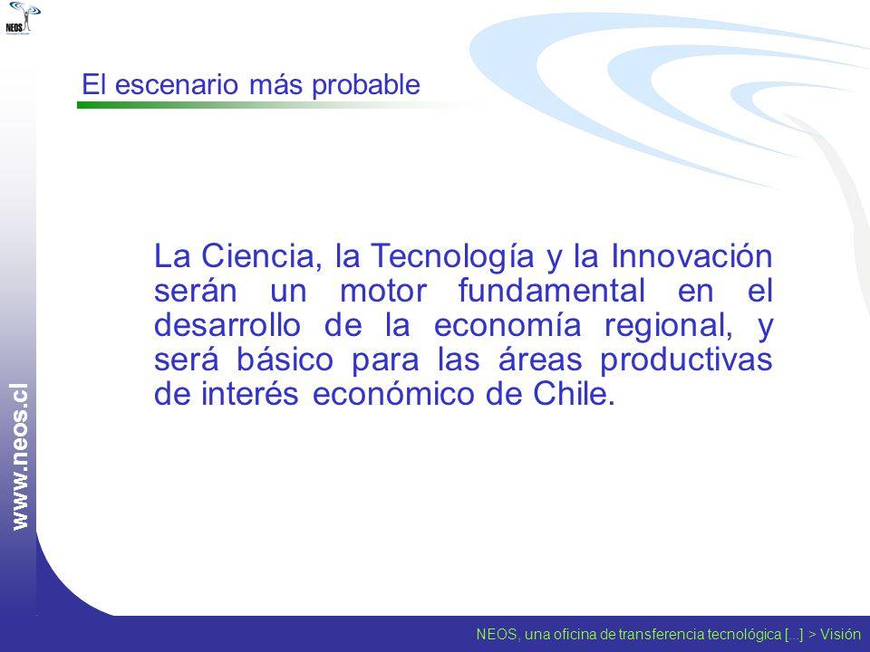 w w w. n e o s. c l El escenario más probable La Ciencia, la Tecnología y la Innovación serán un motor fundamental en el desarrollo de la economía reg