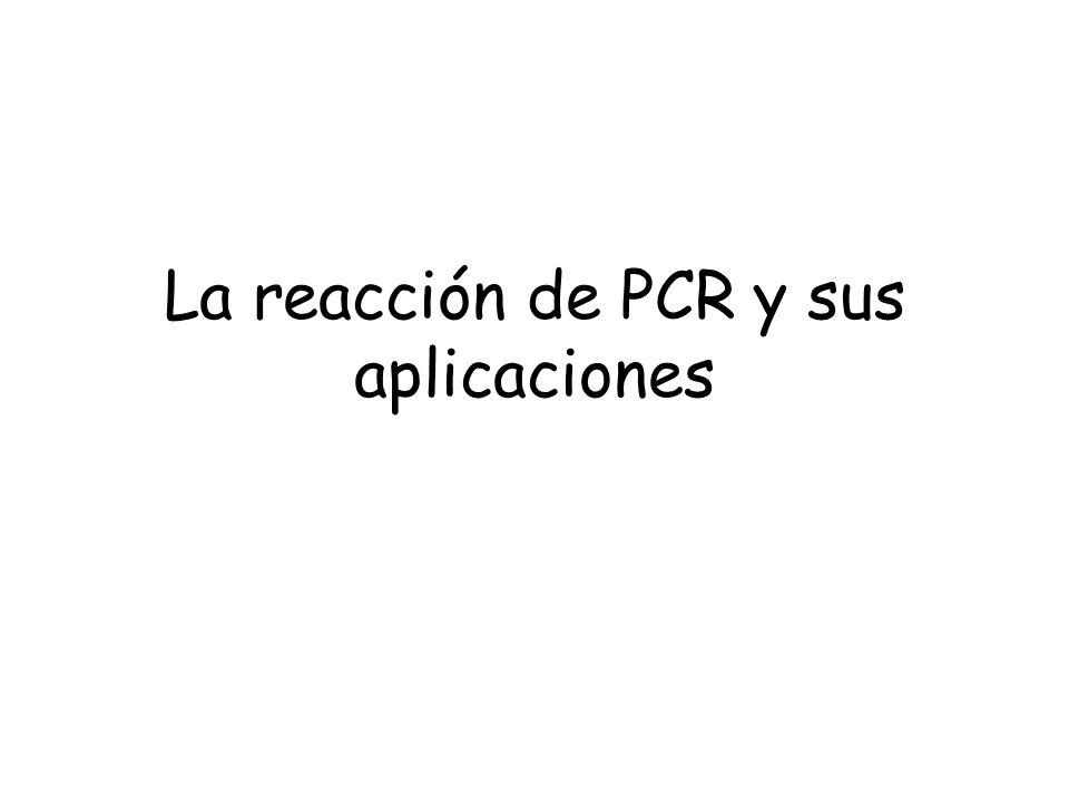 La reacción de PCR y sus aplicaciones