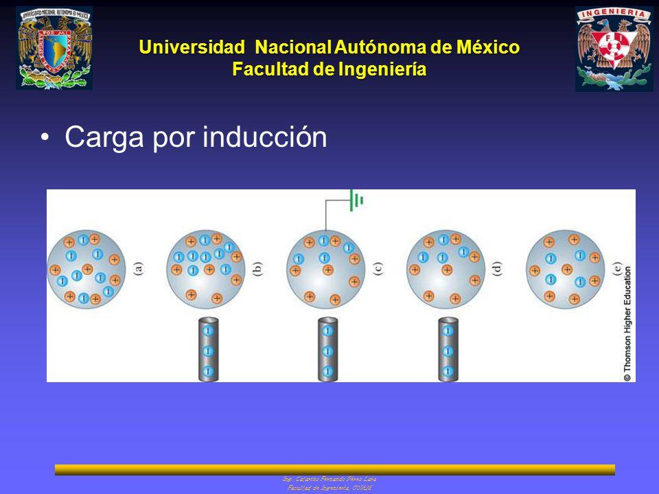 Universidad Nacional Autónoma de México Facultad de Ingeniería Carga por inducción Ing. Catarino Fernando Pérez Lara Facultad de Ingeniería, UNAM