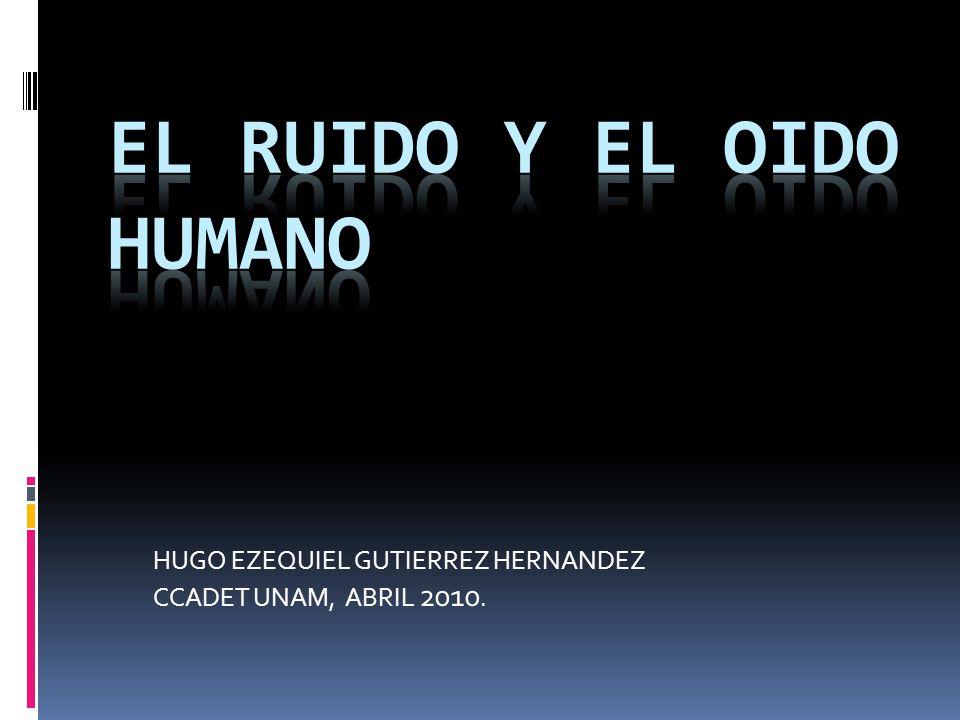 HUGO EZEQUIEL GUTIERREZ HERNANDEZ CCADET UNAM, ABRIL 2010.