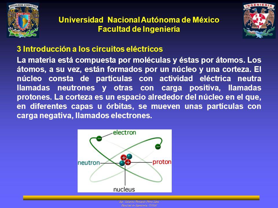 Universidad Nacional Autónoma de México Facultad de Ingeniería Ing. Catarino Fernando Pérez Lara Facultad de Ingeniería, UNAM 3 Introducción a los cir