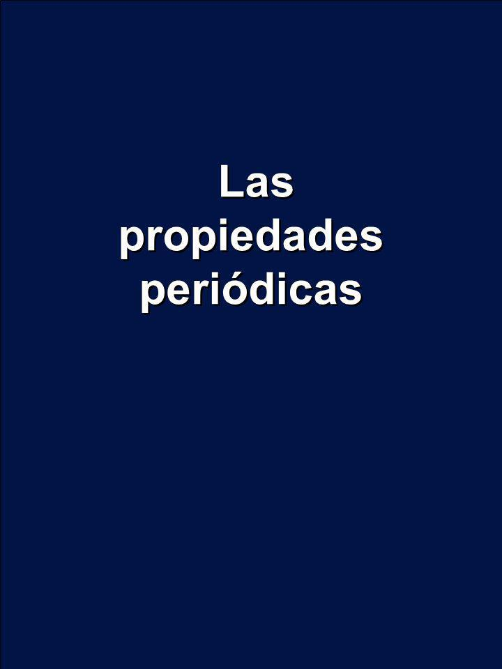 Las propiedades periódicas